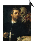 Self-Portrait with Death Playing the Fiddle  1872
