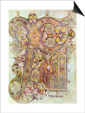 Monogram Page from the Book of Kells Christi Auteum Generatio  C800