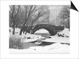 Gapstow Bridge  Central Park  Ny in Snow