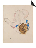 Nude with Blue Stockings  Bending Forward  1912
