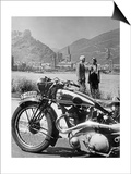 A Motorcycle Trip Alongside the Rhein River  1936