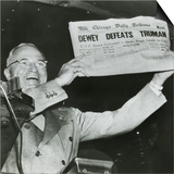Harry S Truman  President-Elect  Holds Up Edition of Chicago Daily Tribune