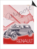 Poster Advertising Renault Cars  1934