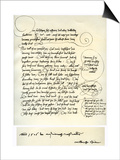 Draft of Albrecht Durer's Dedication to Bilibald Pirckheimer  C1523