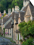 Picturesque Cottages in the Beautiful Cotswolds Village of Castle Combe  Wiltshire  England