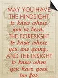 An Irish Blessing on Hindsight  Foresight & Insight - 1741  Ireland Map