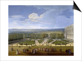 Louis XIV and His Court on a Promenade in the Gardens of Versailles