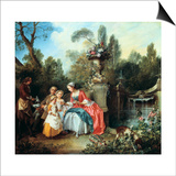 A Lady in a Garden Taking Coffee with Some Children  Probably 1742