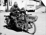 A Harley-Davidson with a Sidecar  1923