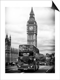 London Red Bus and Big Ben - London - UK - England - United Kingdom - Europe