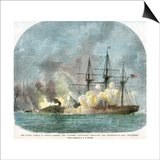 The Naval Combat in Mobile Harbour  Alabama  American Civil War  5 August 1864