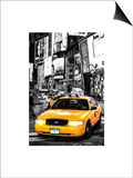 NYC Yellow Taxis / Cabs in Times Square by Night - Manhattan - New York