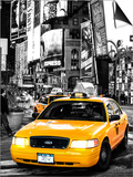NYC Yellow Taxis / Cabs in Times Square by Night - Manhattan - New York City - United States