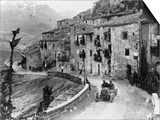 Felice Nazzaro Driving Through Pettralia Sottana in a Fiat  in the Targa Florio Race  Sicily  1907