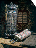 Scrolls of the Torah  Torah Cover and the Ten Commandments  1797