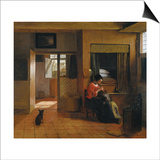 Interior with a Mother Delousing Her Child's Hair (A Mother's Dut)  1659-1660