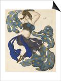 Odalisque  Costume Design for the Ballet Sheherazade by N Rimsky-Korsakov