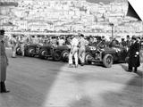 A Line of Alfa Romeos at the Monaco Grand Prix  1934
