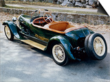 A 1928 Bugatti Type 44 Viewed from the Rear