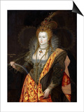 Portrait of Elizabeth I of England  in Ballet Costume as Iris