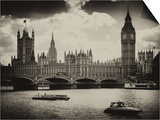 View of the Palace of Westminster and Big Ben - City of London - UK - England - United Kingdom