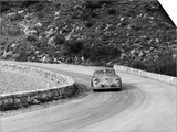 Porsche 356 Taking a Corner in the Monte Carlo Rally  1954