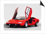 1974 Lamborghini Countach Open Doors Watercolor