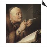 Scholar Sharpening a Quill Pen