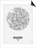 Madrid Street Map White