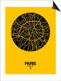 Paris Street Map Yellow