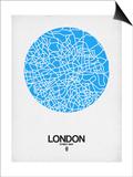 London Street Map Blue