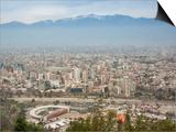Overview of Santiago from Atop Cerro San Cristobal at Parque Metropolitano De Santiago
