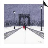 Nighttime Stroll across Brooklyn Bridge - New York