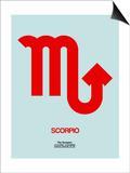 Scorpio Zodiac Sign Red