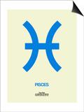 Pisces Zodiac Sign Blue