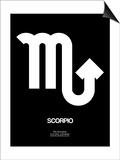 Scorpio Zodiac Sign White