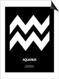 Aquarius Zodiac Sign White