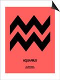 Aquarius Zodiac Sign Black