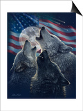 Wolf Trinity Patriotic