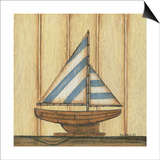 Blue Stripe Sailboat