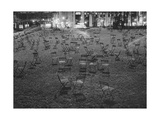 Bryant Park Chairs at Night