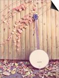 Banjo Against Fence