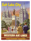 Salt Lake City  Utah - Western Air Lines