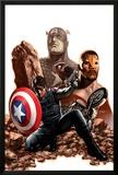 Captain America No27 Cover: Captain America  Winter Soldier and Falcon
