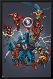 Official Handbook: Avengers 2005 Cover: Captain America  Hulkling and Cage