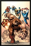 Marvel Two-In-One No7 Cover: Juggernaut  Wolverine  Captain America  Spider-Man and Iron Man