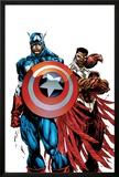 Captain America & The Falcon No1 Cover: Captain America and Falcon