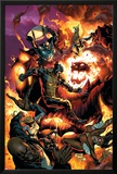 New Avengers No54 Cover: Wolverine  Spider-Man  Dormammu and Captain America