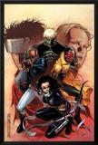 Young Avengers No9 Cover: Bishop  Kate  Hulkling  Vision and Patriot