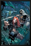 Avengers: The Initiative No24 Cover: Typhoid Mary  Task Master and Komodo